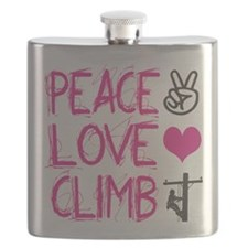 peace love climb pink Flask