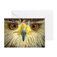 Redtail Head Shot Greeting Card