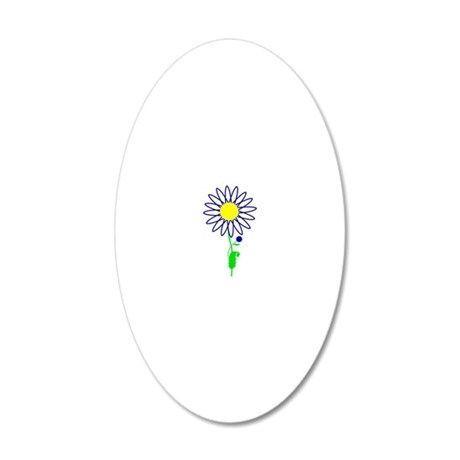 Marguerite 20x12 Oval Wall Decal
