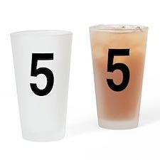 helvetica_5_black Drinking Glass