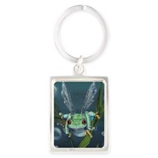Wishing Frog Portrait Keychain