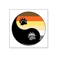 "Bear-Pride-Ying-Yang Square Sticker 3"" x 3"""