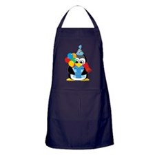 Happy-Birthday-Penguin-Scarf Apron (dark)
