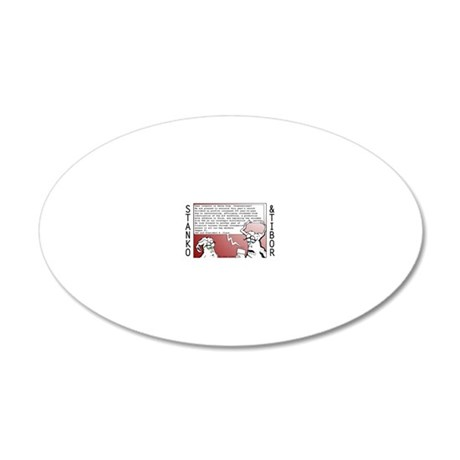 Xmas Poster 20x12 Oval Wall Decal