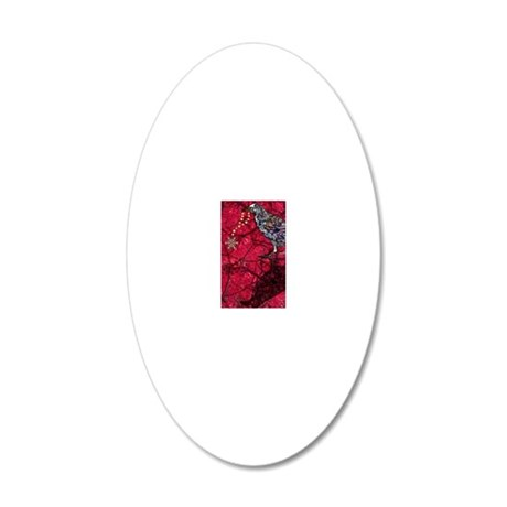 snowflakeRaveniPhone 20x12 Oval Wall Decal