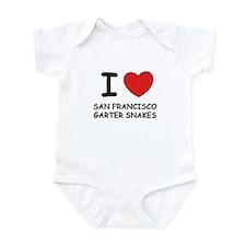 I love san francisco garter snakes Infant Bodysuit