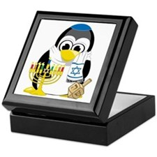 Hanukkah-Penguin-Scarf Keepsake Box