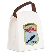 tullibee patch transparent Canvas Lunch Bag