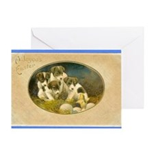 EASTER RAT TERRIER PUPPIES Greeting Card