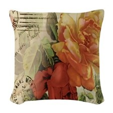 cafeapparelroses Woven Throw Pillow