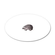 Cute Little Hedgehog 20x12 Oval Wall Decal