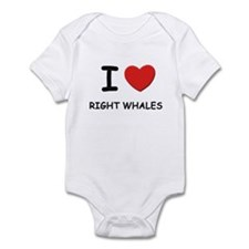 I love right whales Infant Bodysuit