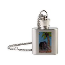 Belated Birthday Card Flask Necklace