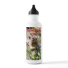 Squirrel Birthday Card Water Bottle