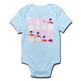 Snowman Pink Infant Bodysuit