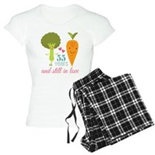 55 Year Anniversary Veggie Couple Pajamas