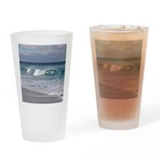 Waves on Friendly Beach Drinking Glass