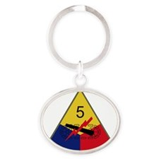 5th Armored Division Oval Keychain