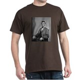 Pres Abraham Lincoln Black T-Shirt Civil War gift