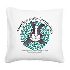 adoptionsavesbunnies-SEAGREEN Square Canvas Pillow