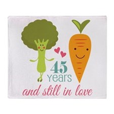 45 Year Anniversary Veggie Couple Throw Blanket
