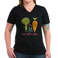 43 Year Anniversary Veggie Couple Shirt