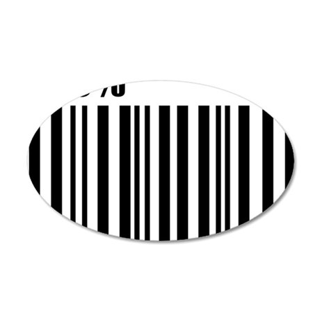 barcode_100 35x21 Oval Wall Decal