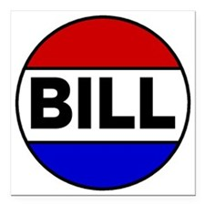 "bill Square Car Magnet 3"" x 3"""