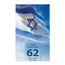 Israel at 62 Flag 3'x5' Area Rug