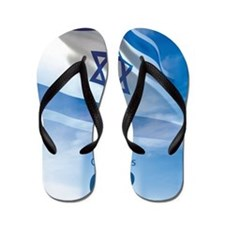 Israel at 62 Flag Flip Flops