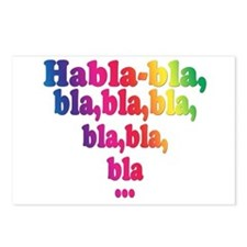 Habla,bla,bla,bla... Postcards (Package of 8)