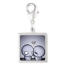 pon and zi Silver Square Charm