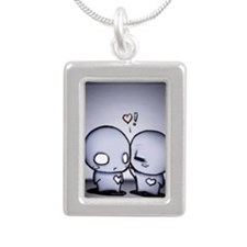 pon and zi Silver Portrait Necklace