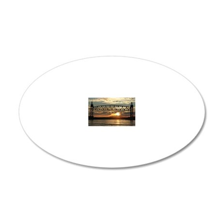 Cape Cod Sunrise 20x12 Oval Wall Decal