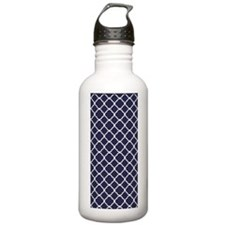 quatrefoilcasenavy Water Bottle