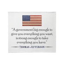 QTJ_BigGovtFlag.jpg Throw Blanket