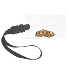 Dark Side Cookies white Luggage Tag