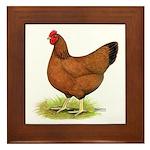 Red Hen Framed Tile