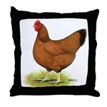 Red Hen Throw Pillow