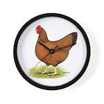 Red Hen Wall Clock