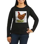 Red Hen Women's Long Sleeve Dark T-Shirt