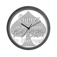 Poker-Invert Wall Clock