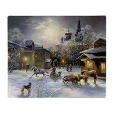 Russian Winter Painting Blanket