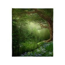 Summer Forest River Blanket