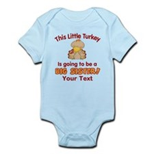 Big Sister to be Turkey Body Suit