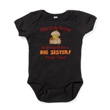 Big Sister to be Turkey Baby Bodysuit