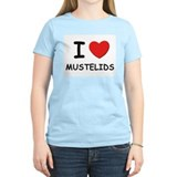 I love mustelids Women's Pink T-Shirt