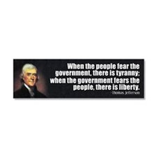 Jefferson Quote Liberty Car Magnet 10 x 3