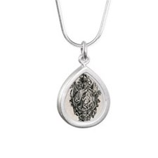 Cartridge of War Silver Teardrop Necklace
