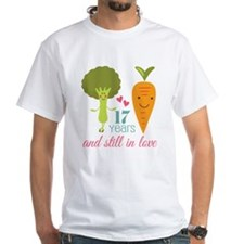 17 Year Anniverary Veggie Couple Shirt